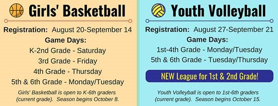Basketball & Volleyball Information