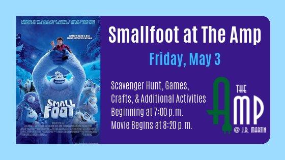 Smallfoot at The Amp May 3