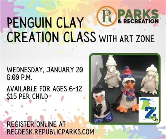 Penguin Clay Creation Class