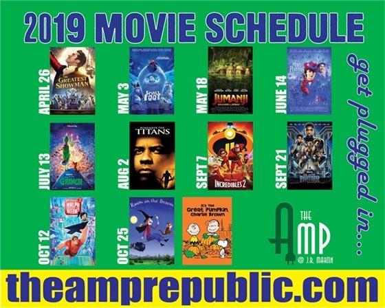 2019 Amp Schedule