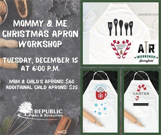 Mommy & Me Christmas Apron Workshop