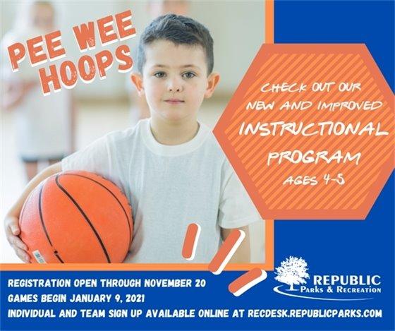 Pee Wee Hoops Registration