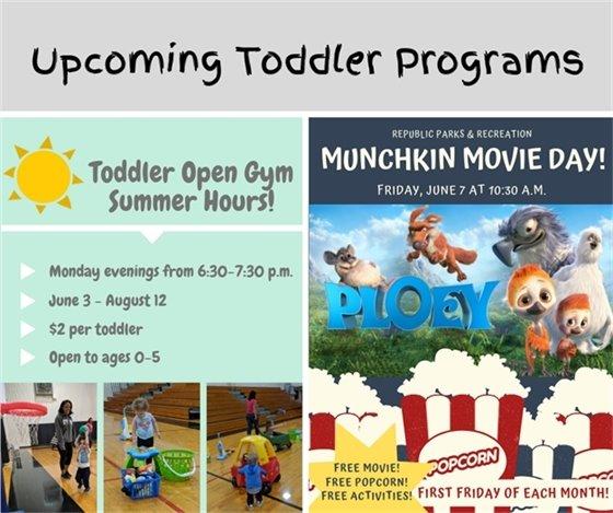 Upcoming Toddler Programs