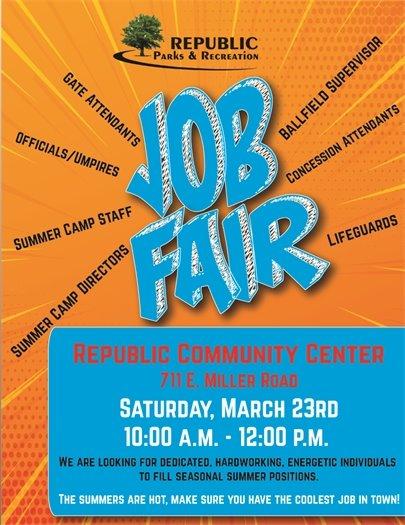 Job Fair on Saturday, March 23