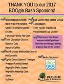 BOOgie Bash Sponsor Thank You