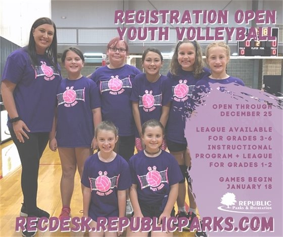 Winter Youth Volleyball Registration