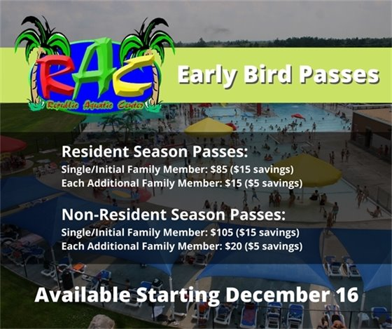 RAC Early Bird Season Passes