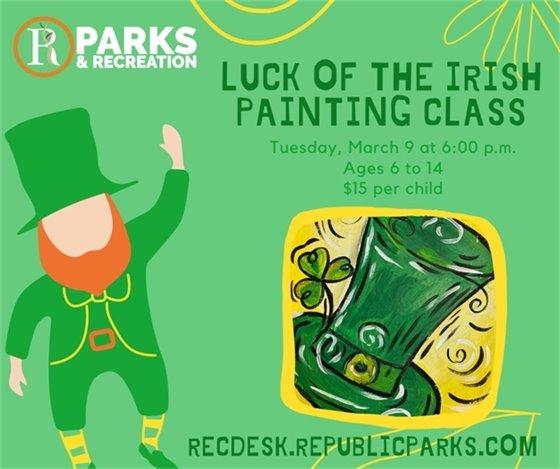 Luck of the Irish Painting Class