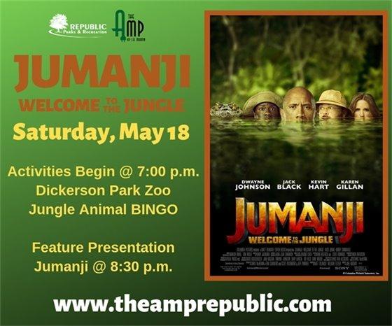 Jumanji at The Amp May 18