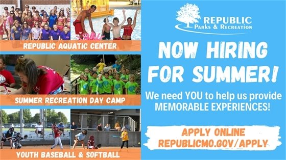 Now Hiring for Summer!