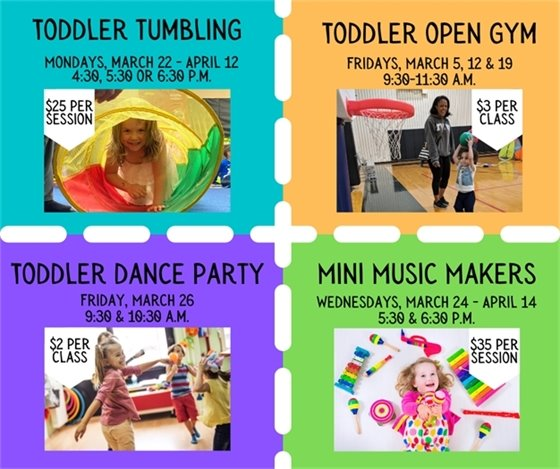 March Toddler Programs