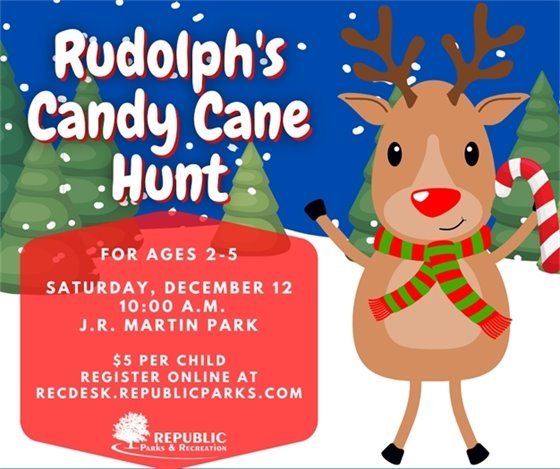 Rudolph's Candy Cane Hunt