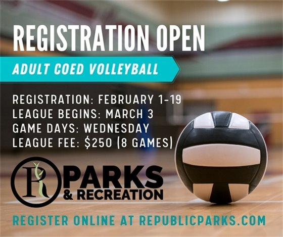 Adult Co-Ed Volleyball Registration