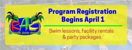 RAC Program Registration Begins April 1