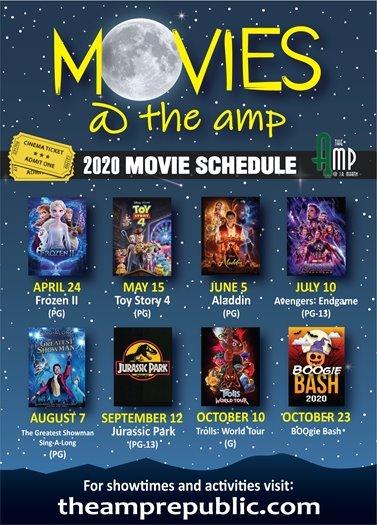The Amp 2020 Movie Schedule