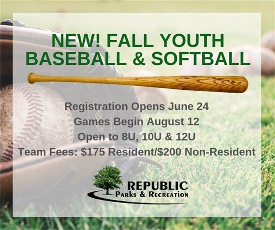 Fall Youth Baseball & Softball