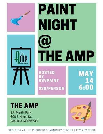 Paint Night at The Amp