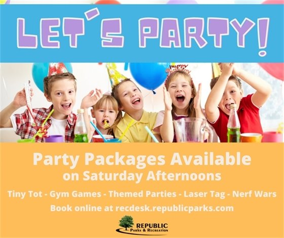 Party Packages Available