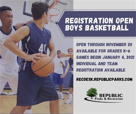 Boys' Basketball Registration