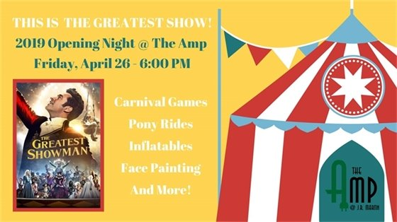 Opening Night at The Amp Friday, April 26