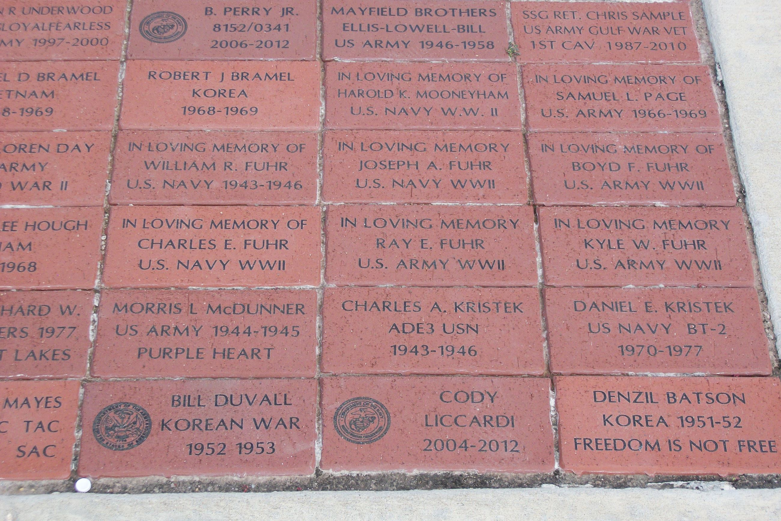 Bricks at Memorial