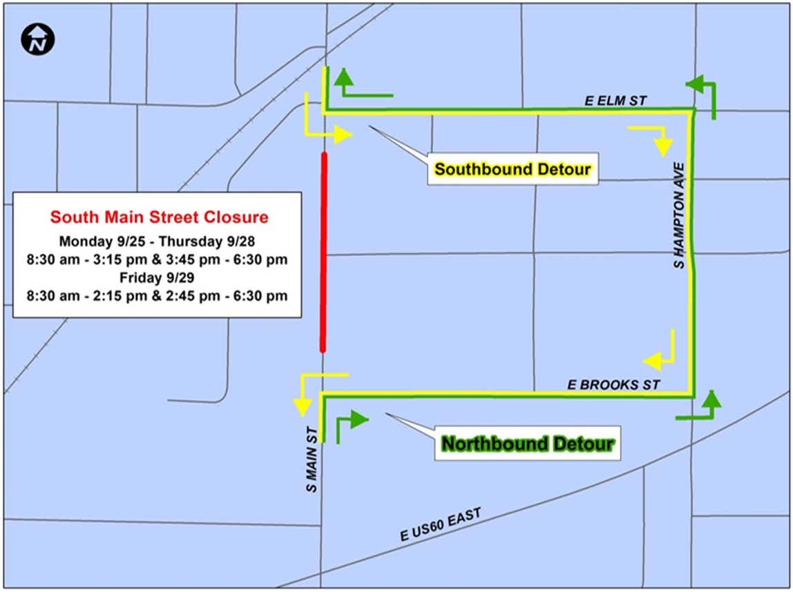 Map - Main Street Closure